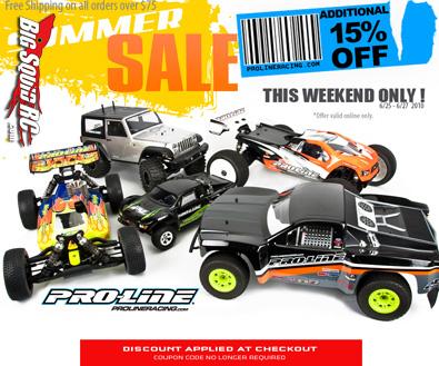 Pro-Line summer sale