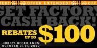 HPI Factory rebate extended