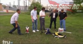 RC Helicopter on TV