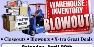 Hobby People Apr 30th warehouse sale