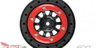 Pro-Line Protrac red and black bead lock wheel (1)