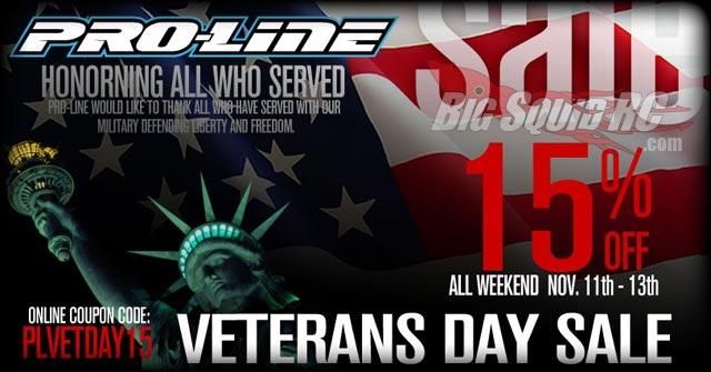 pro-line veterans day sale
