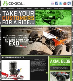 axial web page shot