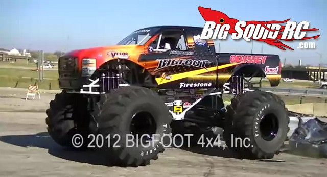 Video Electric Full Size Monster Truck Car Crushing Bigfoot