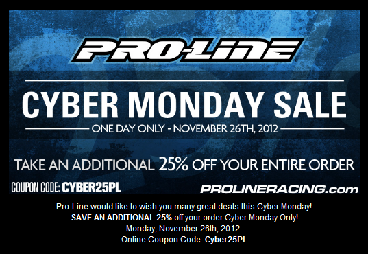 Cyber Monday Sale at Pro-Line Racing