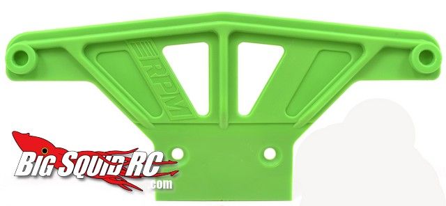 RPM Green wide front bumper for traxxas