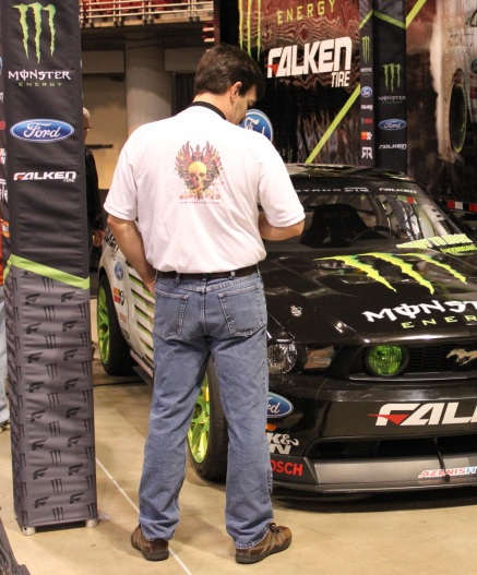 Cubby at Auto Show Monster Energy Mustang