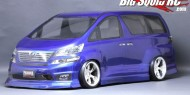 Toyota Vellfire Clear Lexan body by Pandora RC