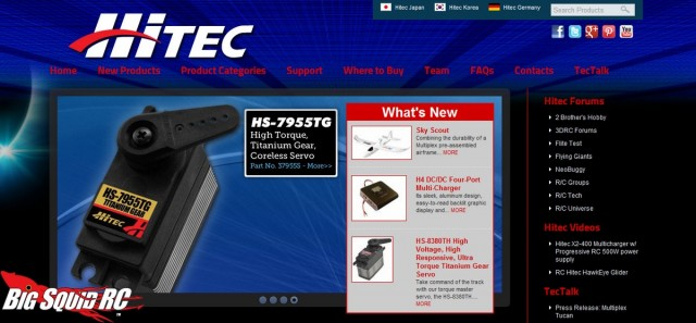 New Website Hitec RCD