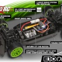 HPI E10 Drift Vaughn Gittin Jr. Monster Energy Nitto Tire Ford Mustang RTR 2