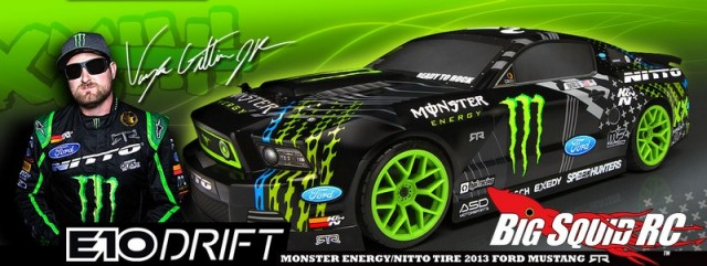HPI E10 Drift Vaughn Gittin Jr. Monster Energy Nitto Tire Ford Mustang RTR