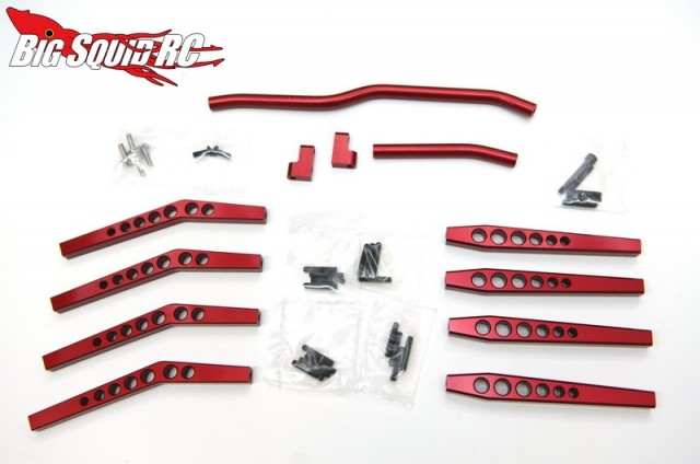 STRC Limited Edition Red Anodized Axial Wraith Option Parts
