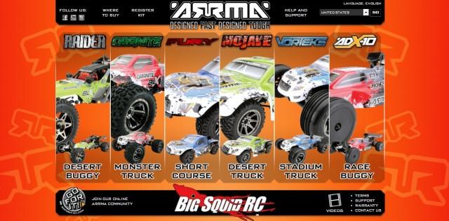 New ARRMA Website BLX Brushless