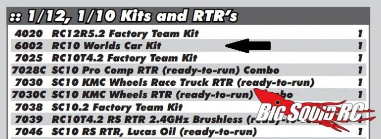 associated rc10 worlds car 6002