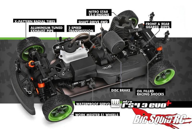 Hpi Racing Nitro Rs4 3 Evo 69 Mustang 171 Big Squid Rc