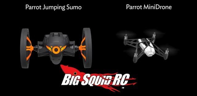 Parrot Jumping Sumo & MiniDrone Video