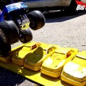 Tamiya Clodbuster crushing cars