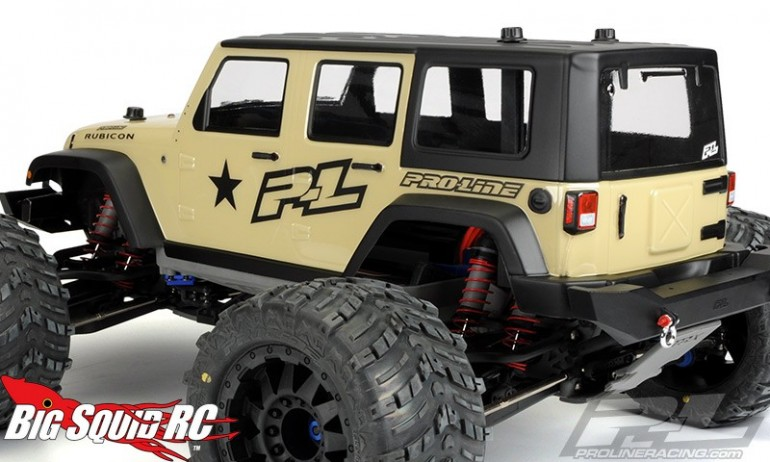 Pro-Line Jeep Wrangler Unlimited Rubicon Clear Monster Truck Body