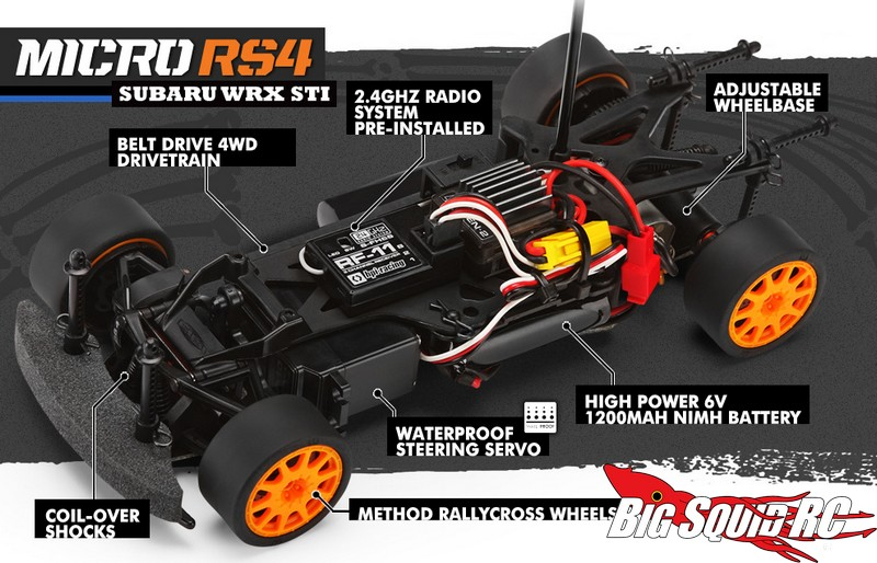 Rc Car Batteries >> New Micro RS4 Subaru WRX STI RTRs from HPI Racing « Big Squid RC – RC Car and Truck News ...