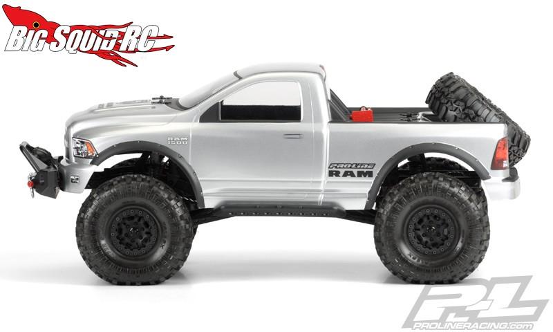 Pro Line Ram Clear Crawler Body on 2014 Dodge Ram 1500 Fender