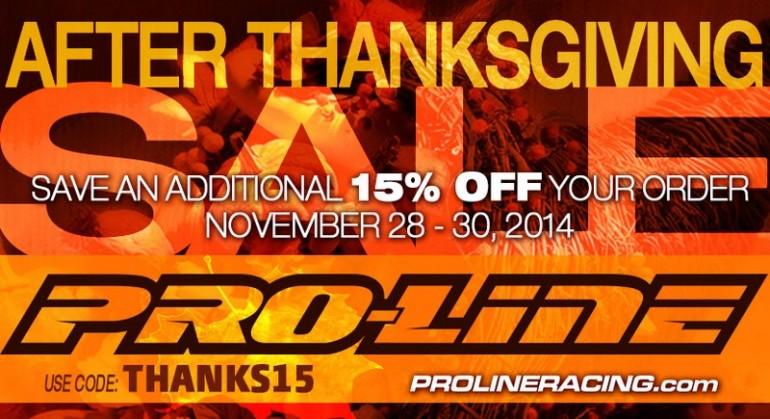 Pro-Line thanksgiving sale