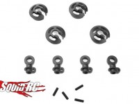 Tekno Locking Shock Rod Ends Spring Perch Set