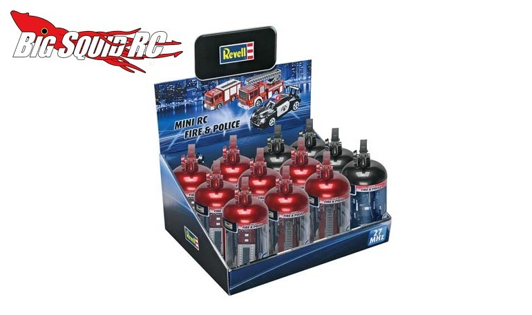 Revell Mini RC Fire Extinguisher Sets Police Car Fire Truck