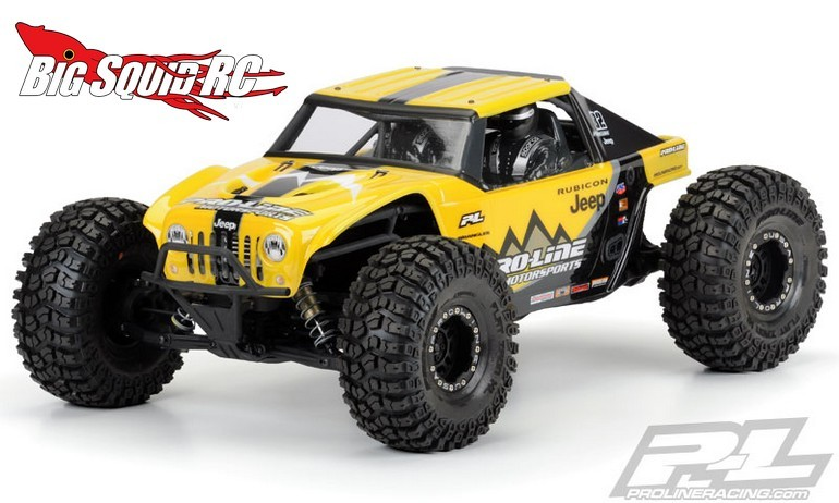 Pro-Line Jeep Wrangler Rubicon Clear Body Axial Yeti