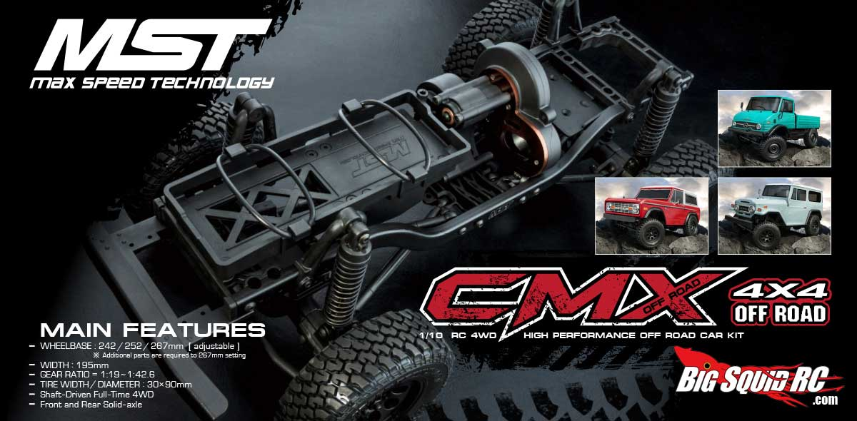 MST CMX scale trail truck release imminent with video « Big Squid RC