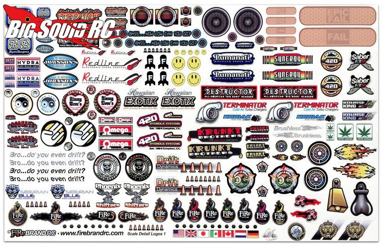 Firebrand rc sponsor logo decal sheet big squid rc rc for Easy fishing sponsors