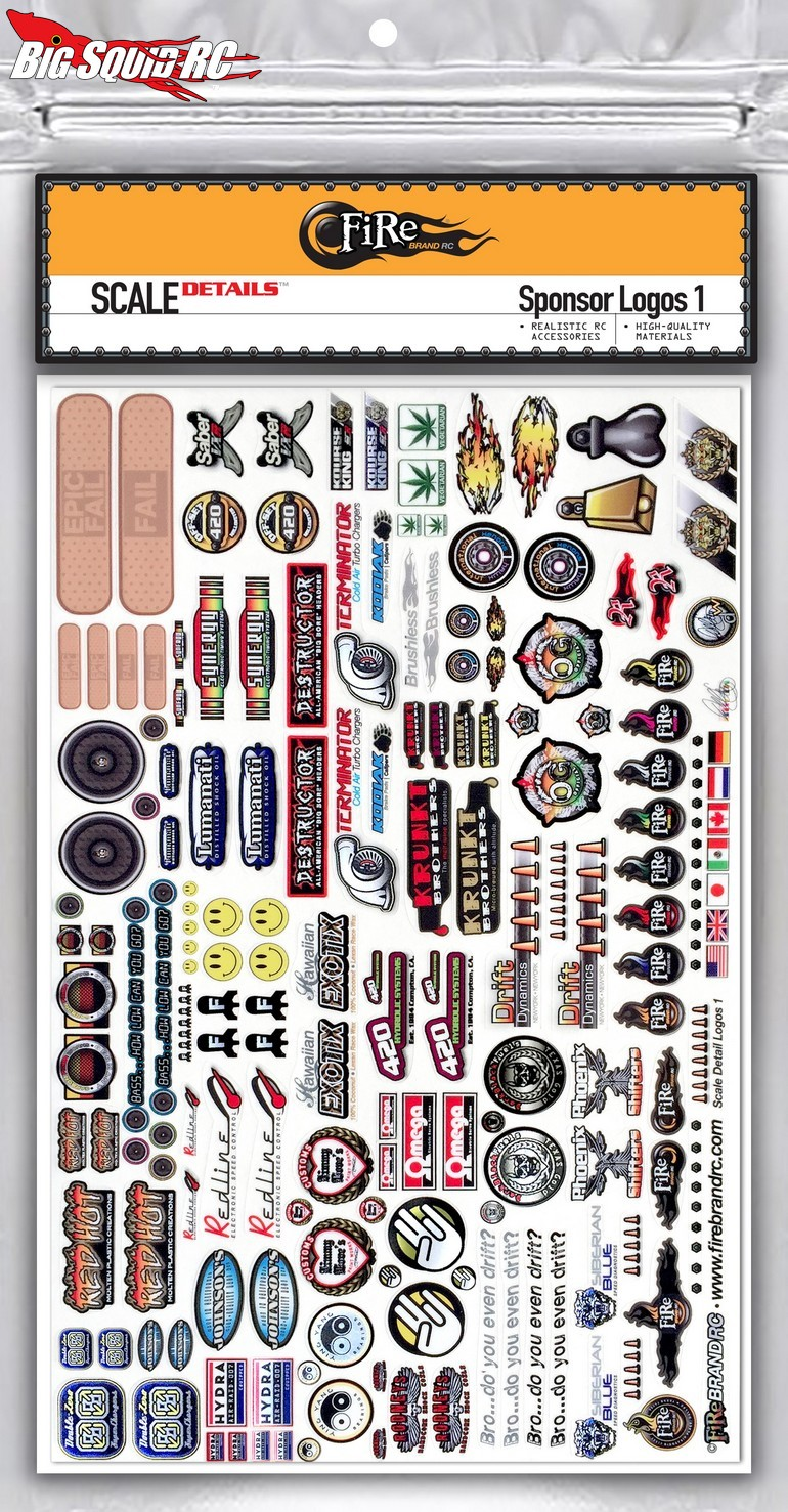 Firebrand Rc Sponsor Logo Decal Sheet 171 Big Squid Rc Rc