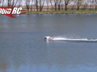 video rc truck tailwhip on water