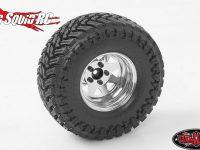 RC4WD Chrome 5 Lug Deep Dish Wagon 1.9 Steel Stamped Beadlock Wheels