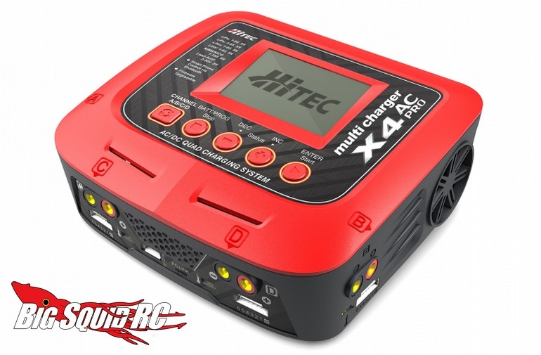 Hitec X4 Ac Pro Four Port Multicharger 171 Big Squid Rc Rc