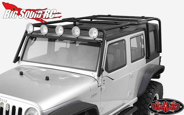 RC4WD Metal Rolling Rack Axial SCX10 Wrangler w Lights