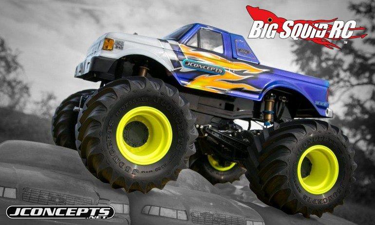 JConcepts Yellow Tribute Monster Truck Wheel