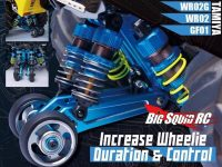 Yeah Racing Aluminum Shock Absorb Wheelie Bar
