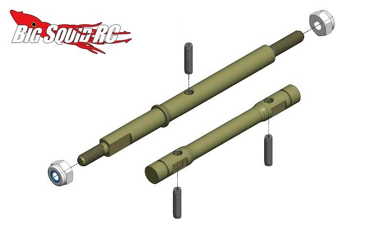 MIP 13.5 Aluminum Race Shaft Set TLR 22-4 2.0