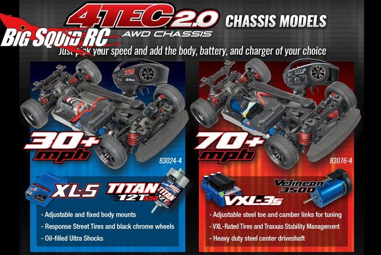 Traxxas 4-Tec 2.0 AWD Chassis Only