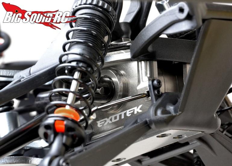 exotek aluminum front gearbox case   baja rey big squid rc rc car  truck news