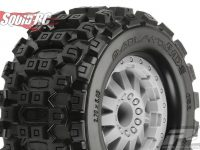Pro-Line Badlands MX28 2.8 Stone Grey Wheels