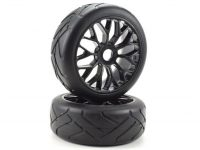 Apex RC Products 8th On-Road Pre-Mounted Super Grip Tire Set