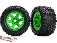 Traxxas E-Revo Wheels Tires Green