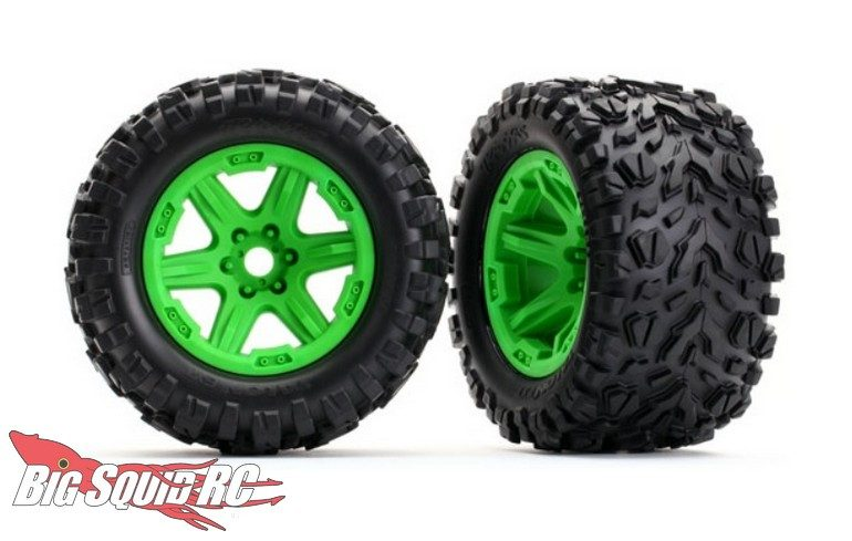 Traxxas E-Revo Wheels Tires Green
