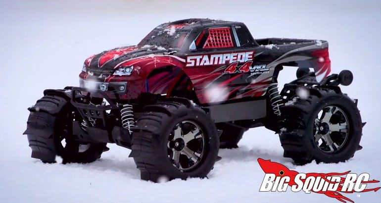 Traxxas Stampede Snow Video