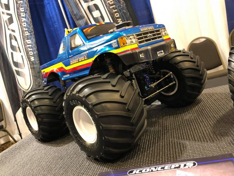 """JConcepts Shows off new """"Golden Year"""" Monster Truck Tires"""