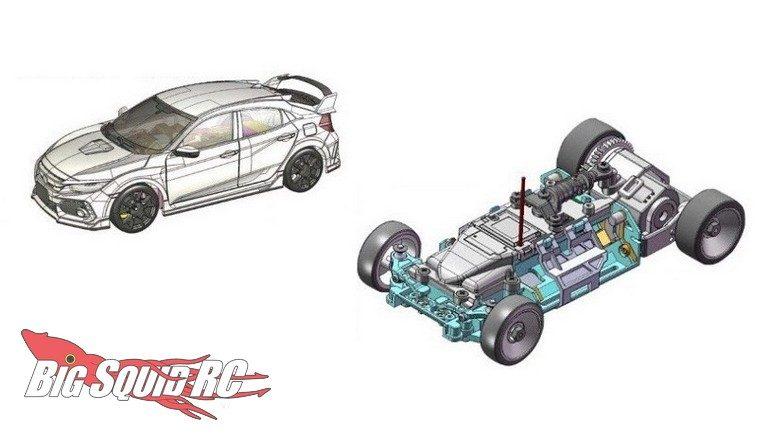 Kyosho Mini-z Civic Type R MRO3 EVO chassis