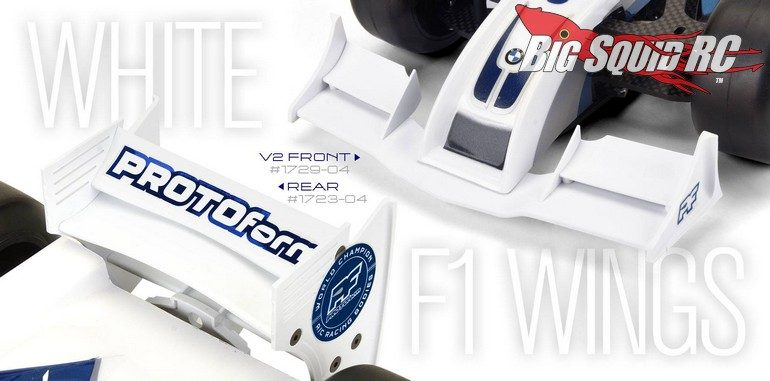 PROTOform White F1 Formula 1 Wings