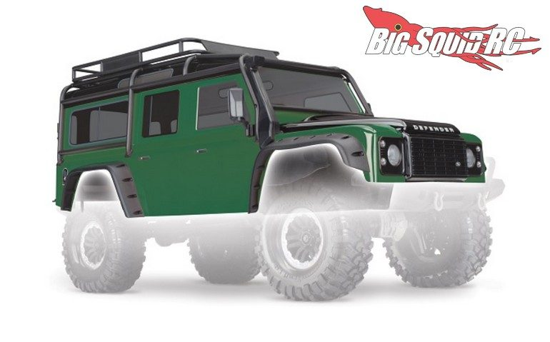 Green Traxxas Land Rover Defender Body