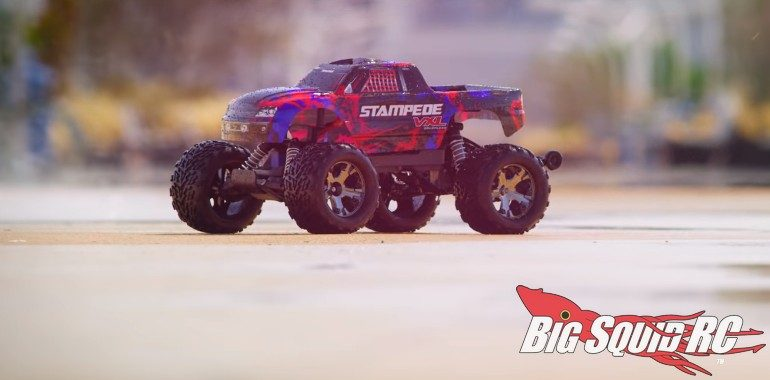Traxxas Stampede VXL Red Green Video